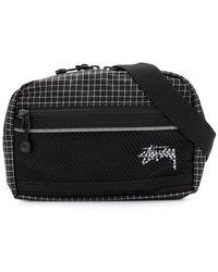 Stussy - Checked Belt Bag - Lyst