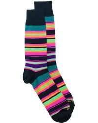 Etro - Striped Socks - Lyst
