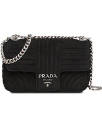9828b084f155 Prada Diagramme Crossbody Bag in Green - Lyst