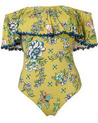 Anjuna - Off The Shoulder Floral Swimsuit - Lyst