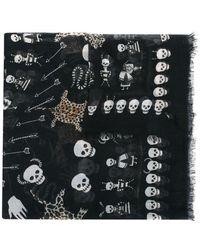 Alexander McQueen - 'voodoo Skull' Scarf - Lyst