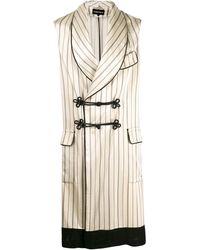 Ann Demeulemeester Striped Sleeveless Coat