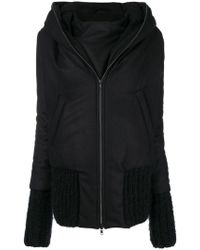 1008fbdf2d6 Lyst - Ann Demeulemeester Zipped Oversized Jacket in Black