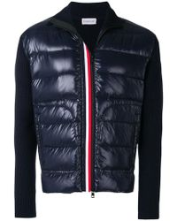 Moncler - Padded-panel Cardigan - Lyst