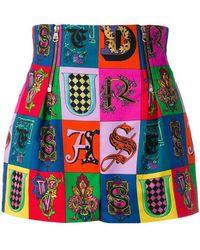 Versace - Printed Short Shorts - Lyst
