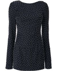 Cristina Savulescu - Micro Pearl Embellished Dress - Lyst