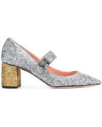 Rochas - Two Tone Textured Pumps - Lyst
