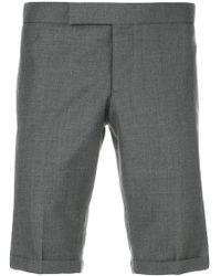 Thom Browne - Pantalones cortos pitillo de lana - Lyst