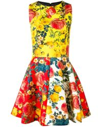 Fausto Puglisi - Floral Print Flared Dress - Lyst