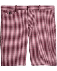 Burberry - Gingham Cotton Tailored Shorts - Lyst