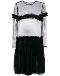 Nicopanda - Sheer Panel Tiered Dress - Lyst