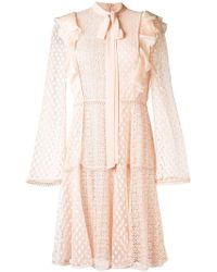 Giamba - Lace Embroidered Flared Dress - Lyst