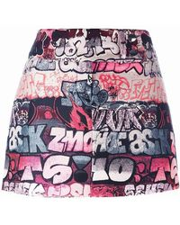 Giamba - Printed Mini Skirt - Lyst