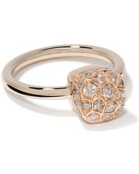 Pomellato - 18kt Rose And White Gold Nudo Solitaire Diamond Ring - Lyst