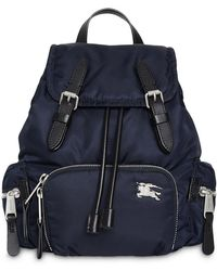 Burberry - The Medium Rucksack In Puffer Nylon And Leather - Lyst