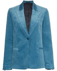 Golden Goose Deluxe Brand - Single Breasted Corduroy Cotton Blazer - Lyst