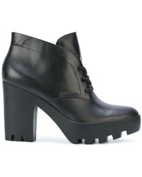 Calvin Klein - Chunky Heel Ankle Boots - Lyst