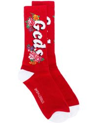 Gcds - Embroidered Logo Socks - Lyst