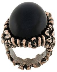 Ferragamo   Oversized Oval Ring   Lyst