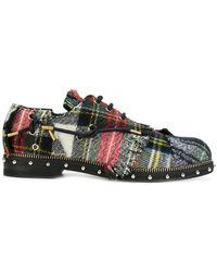 Loewe - Zapatos derby a cuadros - Lyst