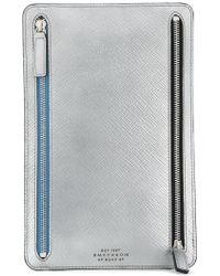 Smythson - Panama Double Zip Currency Case - Lyst