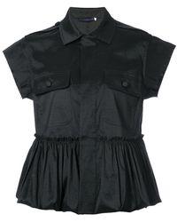 Harvey Faircloth - Frill-trim Tailored Blouse - Lyst