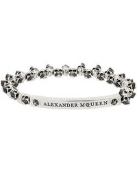 Alexander McQueen - Silver Mini Skull Bracelet - Lyst