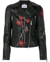 Blugirl Blumarine - Embroidered Biker Jacket - Lyst