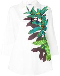Akris - Leaf Print Blouse - Lyst
