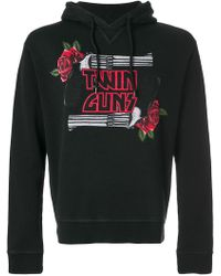 DSquared² - Twin Guns Jersey Sweatshirt Hoodie - Lyst