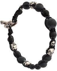 Tobias Wistisen - Macrame Skull Beaded Bracelet - Lyst