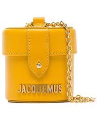 Jacquemus - Yellow Le Vanity Mini Crossbody Leather Bag - Lyst