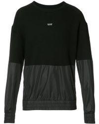 Mostly Heard Rarely Seen - Panelled Sweatshirt - Lyst