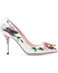 9f73ee589d4 Dolce   Gabbana - Bellucci Peony Print Pumps - Lyst