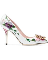 Dolce & Gabbana - Bellucci Peony Print Court Shoes - Lyst