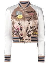 Valentino - Embroidered Bomber Jacket - Lyst