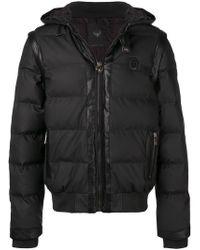 Frankie Morello - Panelled Padded Jacket - Lyst