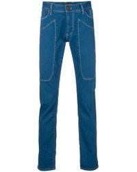 Jeckerson - Slim Stitched Jeans - Lyst