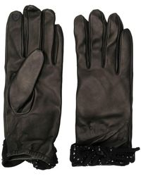 Twin Set - Bow-embellished Gloves - Lyst