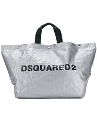 DSquared² - Logo Print Tote Bag - Lyst