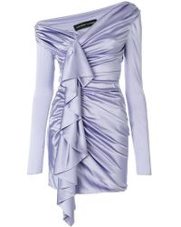 Alexandre Vauthier - Gathered Asymmetric Dress - Lyst