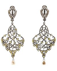 Loree Rodkin - Thorn Leaf Drop Diamond Earrings - Lyst