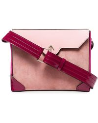 MANU Atelier - Pink Bold Leather And Suede Cross-body Bag - Lyst