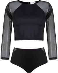 Brigitte Bardot - Cropped Top And Hot Trousers Set - Lyst