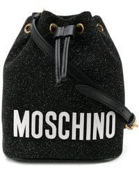 Moschino - Bucket Tas Met Glitter - Lyst