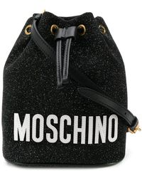 Moschino - Glitter Bucket Bag - Lyst