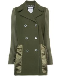 Moschino - Double Breasted Pea Coat - Lyst