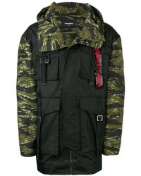 DSquared² - Kapuzenjacke mit Camouflage-Print - Lyst