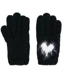 Twin Set - Heart Intarsia Gloves - Lyst