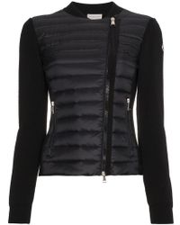 Moncler - Feather Down Knitted Jacket - Lyst